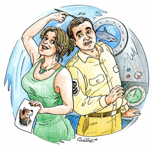frsncis delphy, sous-marin, aventures, marin, dessin, bande dessinée